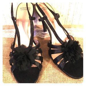 "Mootsie Tootsie Woman's 2"" Heel Strappy Shoes Sz10"